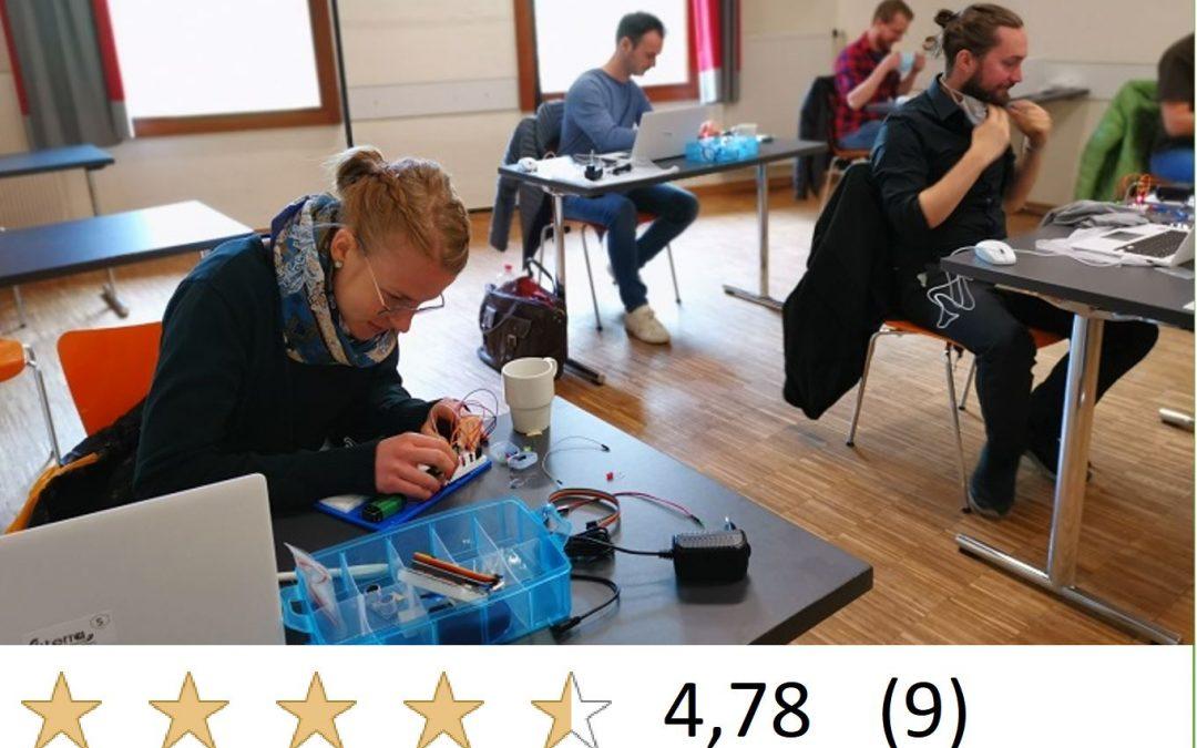 8h-Workshop für Erwachsene: Erweiterte Arduino-Programmierung in C++